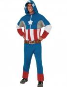 Captain America™ heldragt med hætte til voksne