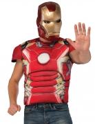 Iron Man™ luksus muskuløs overkrop med maske