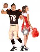 Parkostume pompom girl og amerikansk football-spiller