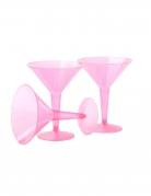 10 stk lyserøde cocktailglas 237 ml