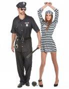 Kostume til par politi og fange voksen